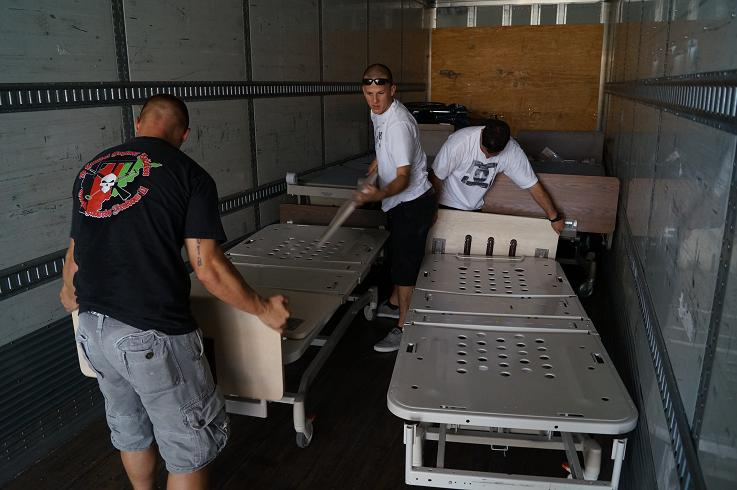 Hospital beds delivered San Diego and Orange County by Marines