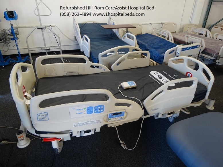 Refurbished used Hill Rom Care Assist hospital beds for sale 858-263-4894