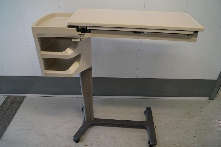 Hospital Bedside Table With Drawers Hill Rom Overbed Tables for Sale | Hospital Beds