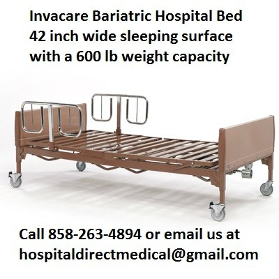 Invacare BAR5490IVC Footspring Bariatric Hospital Bed For Sale 858-263-4894