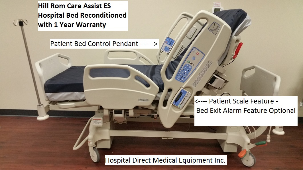 Hill Rom CareAssist ES Hospital Bed Reconditioned Refurbished 3