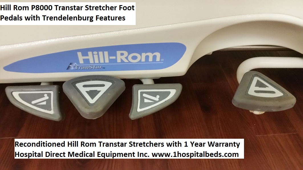 Reconditioned Hill Rom P8000 Transtar Stretcher for sale