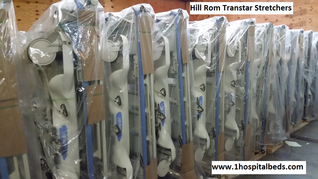 Reconditioned refurbished Hill Rom transtar stretchers for sale with 1 year warranty