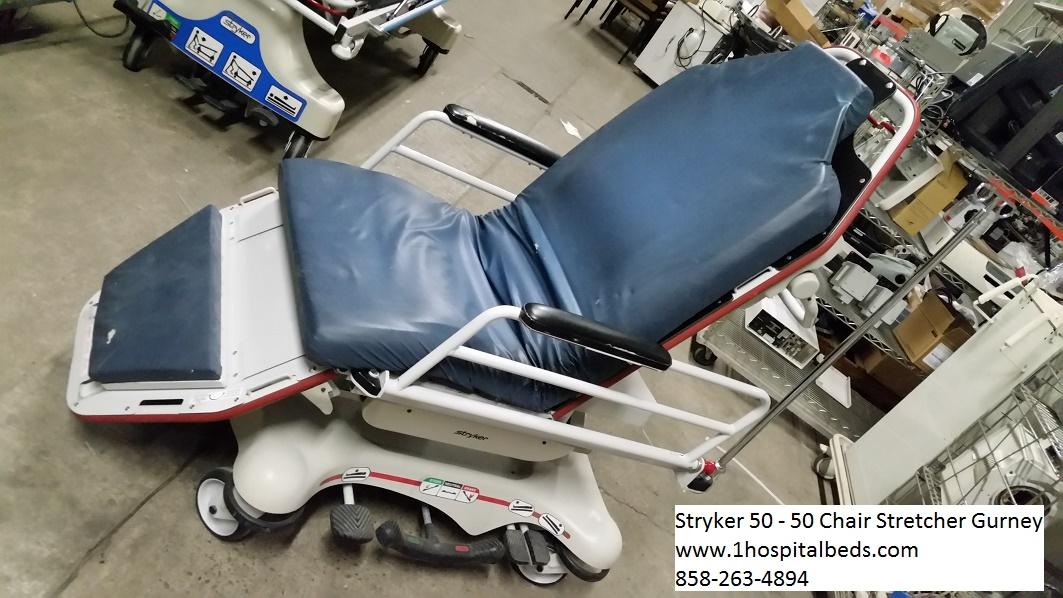 Stryker 5050 chair stretcher gurney for sale 858-263-4894