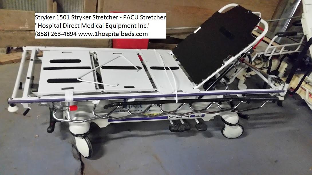 Stryker 1501 PACU stretcher used refurbished