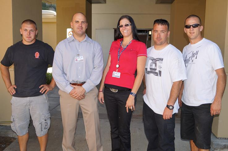 Marines Helping Move Hospital Equipment Oceanside California from local hospital
