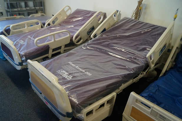 Refurbished Stryker Secure 2 hospital beds for sale