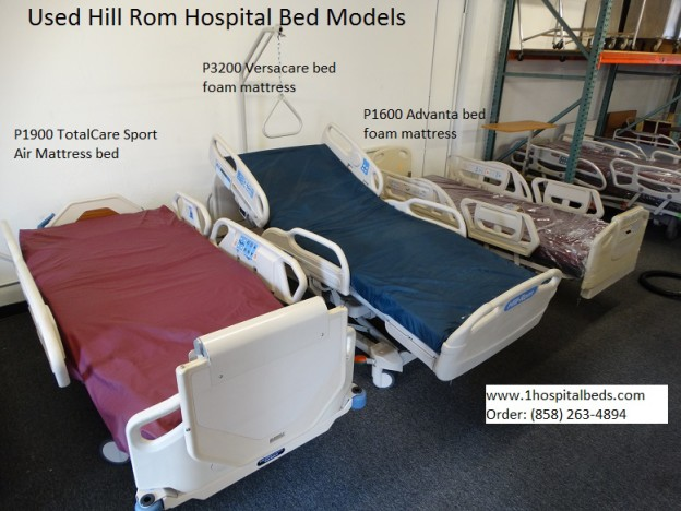 Hill-Rom hospital bed models for sale and pricing call us at 858-263-4894