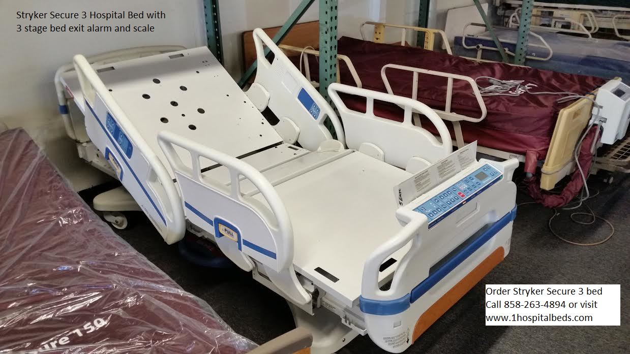 Used refurbished Stryker Secure 3 hospital bed model