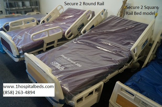 Refurbished Stryker Securer Hospital Bed - square rail and round rail models
