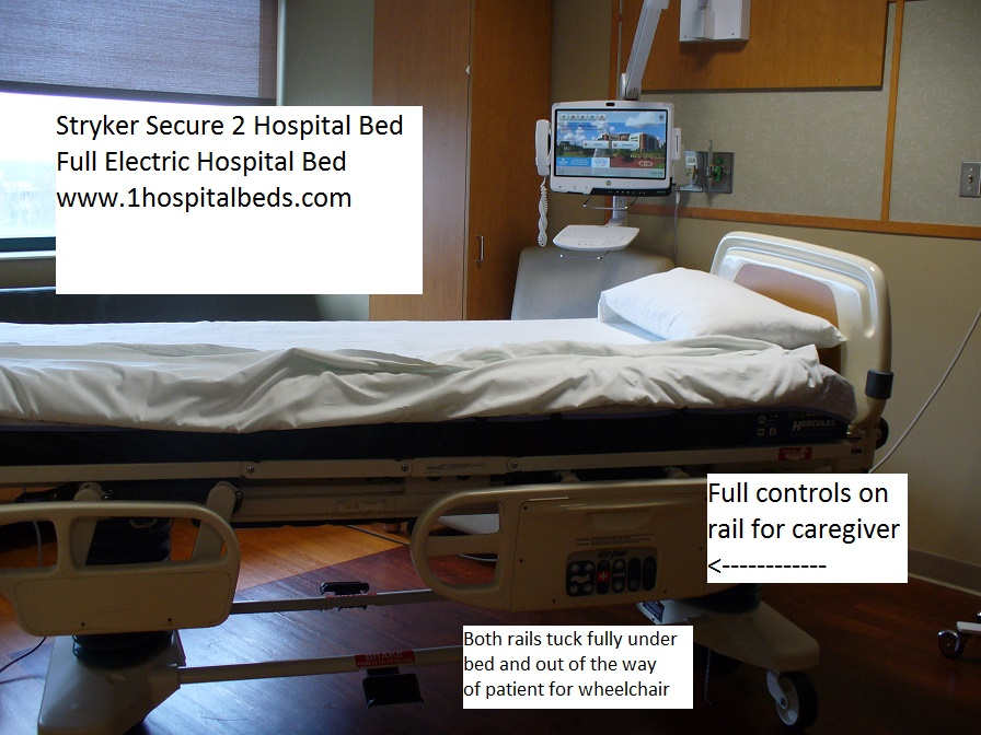 Stryker Secure 2 hospital bed round rail models