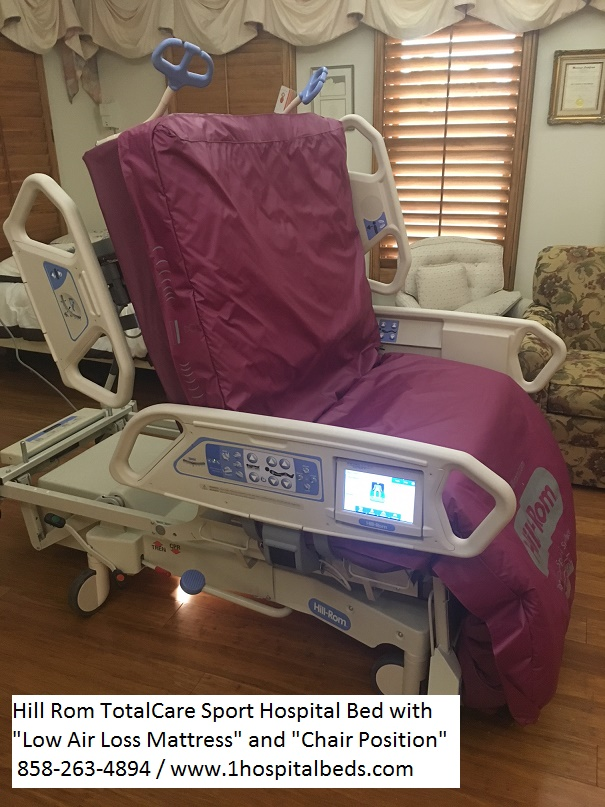 Hill-Rom-P1900-TotalCare-Sport-2-Hospital-Bed-chair-position-and-low-air-loss-mattress 2