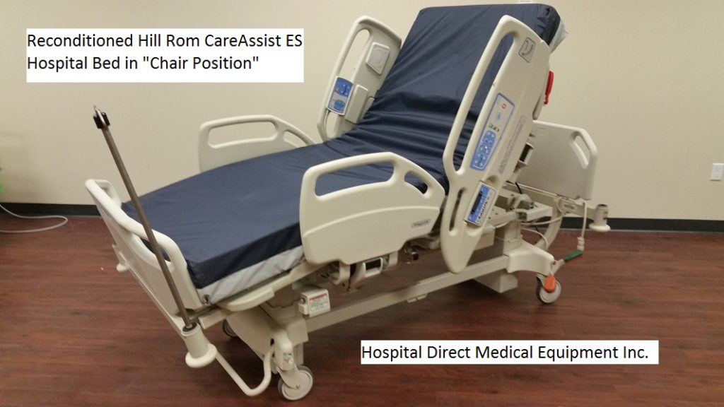 Reconditioned Hill Rom CareAssist ES hospital bed chair position