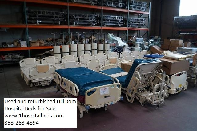 Used Hill Rom hospital bed models and pricing from bed dealer 858-263-4894