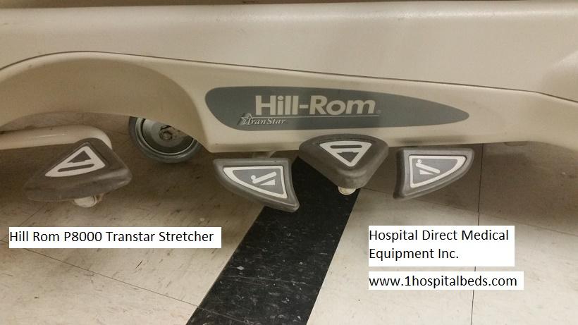 Hill Rom P8000 Transtar Stretcher Trendelenburg Pedals
