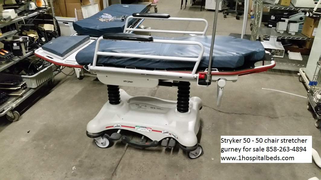 Stryker 5050 chair stretcher gurney for sale 858-263-4894