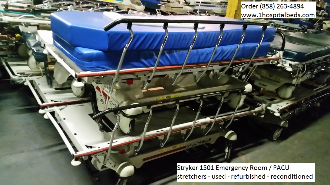 Stryker 1501 PACU ER stretchers used / refurbished / reconditioned
