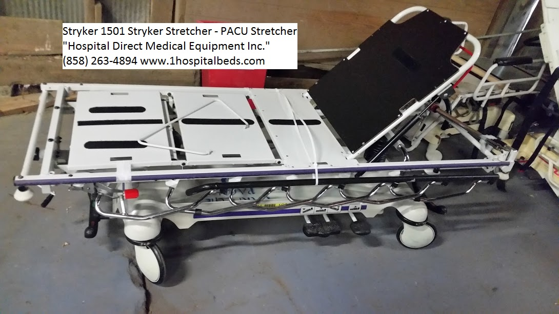 Stryker 1501 PACU stretcher used refurbished