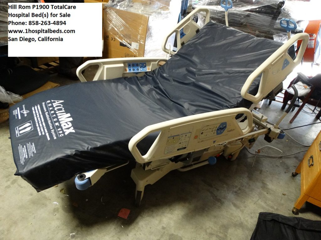 Hill Rom P1900 TotalCare Hospital Bed with foam mattress for sale